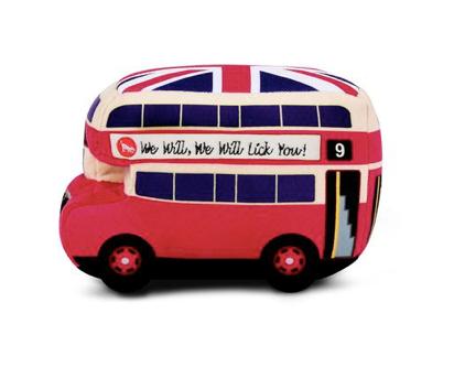London Bus Stuffed Dog Toy