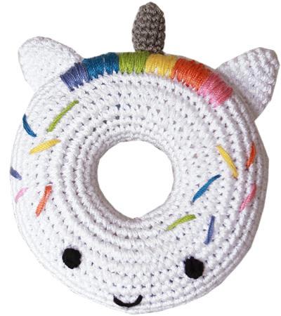 Knit Knacks Unicorn Donut Toy