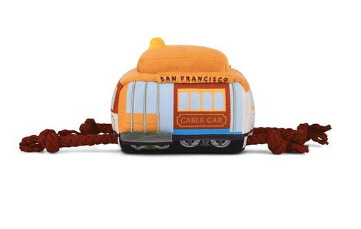 San Francisco Cable Car Stuffed Dog Toy