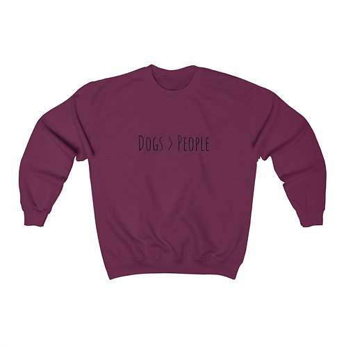Dogs Are Better Than People Crewneck Sweatshirt