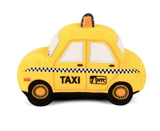 New York Taxi Stuffed Dog Toy