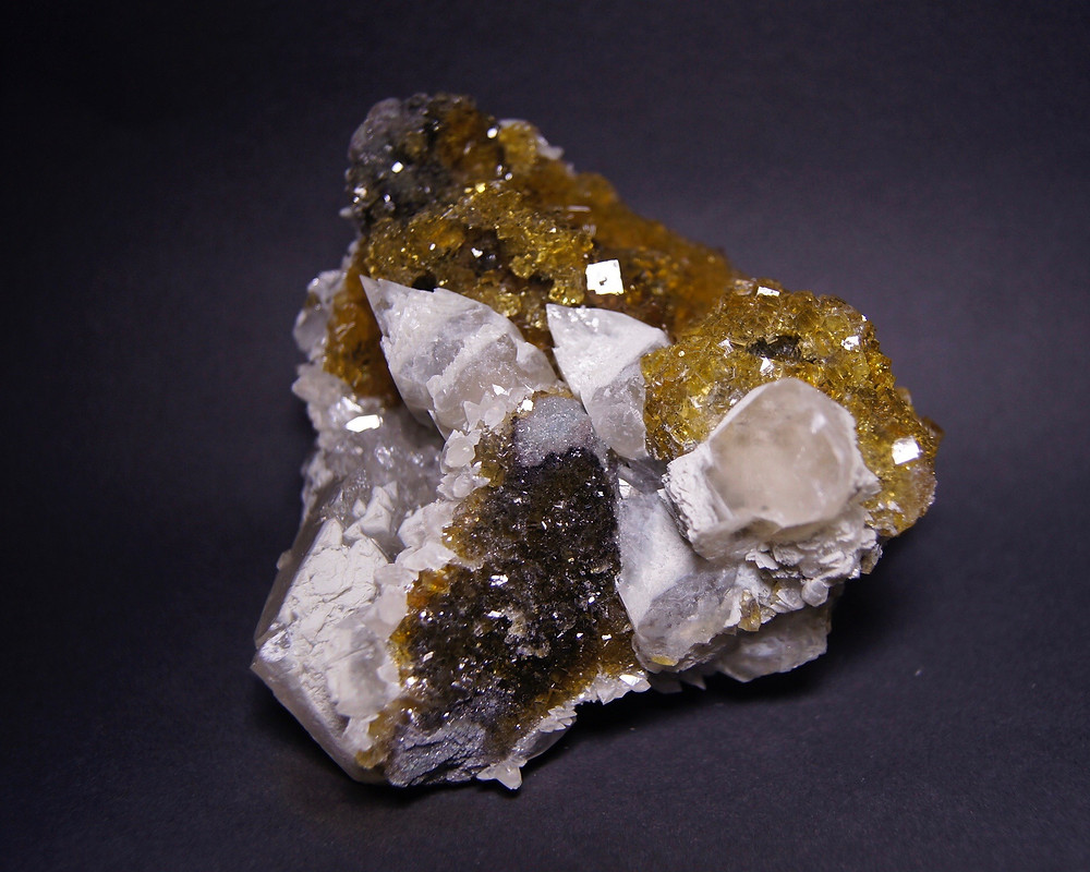 Calcite in Fluorite From Moscona mine under NL