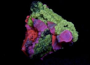 Calcite, Fluorite, Pyrite from Moscona Mine.