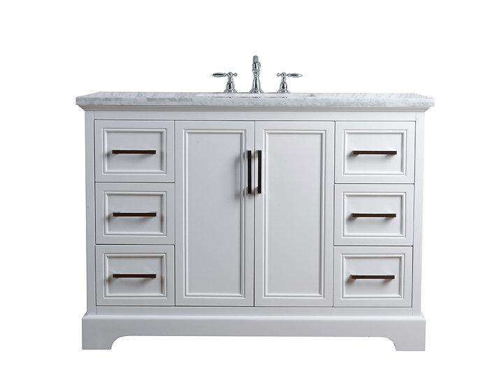 "Ariane 48"" White Single Vanity Single Sink"