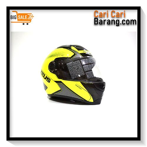 Helm Zeus Full Face ZS811 - Fluo Yellow / AL6 BLK