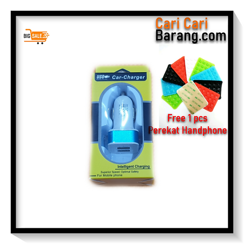 Car Charger 2 Output (Free Perekat Handphone)