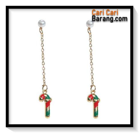 Anting Tusuk Motif Natal Panjang - Stud Earrings