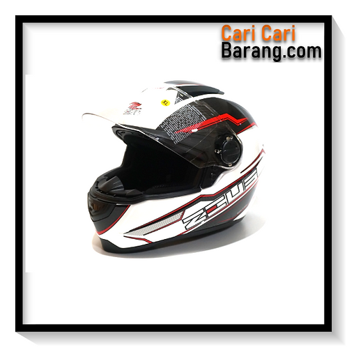 Helm Zeus Full Face ZS811 - WHI / AL12 BLK RED