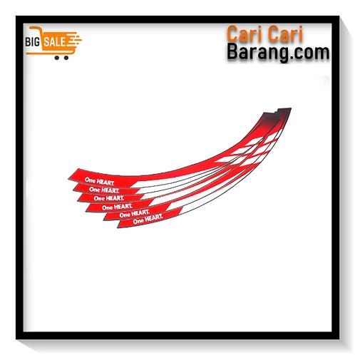 Wheel Sticker Sport Red