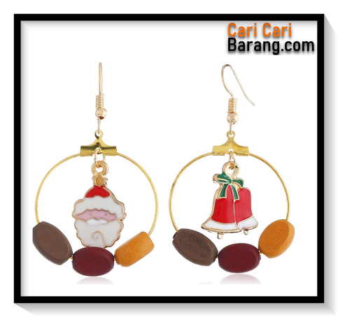 Anting Motif Natal - Drop Earrings