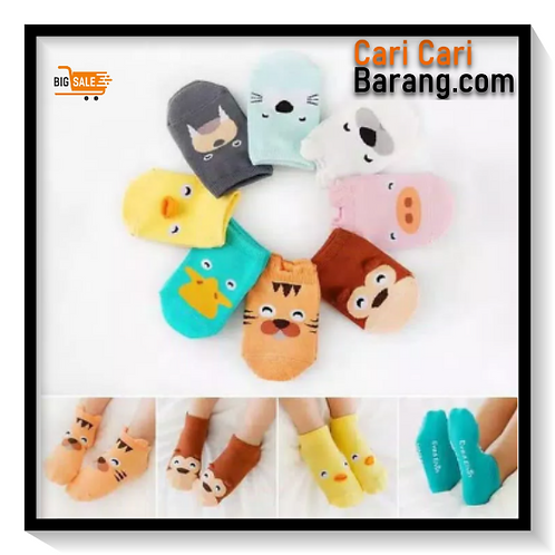 Kaos Kaki Bayi 3D Korea Karakter Hewan Lucu Lembut Kaos Kaki Anak Bayi