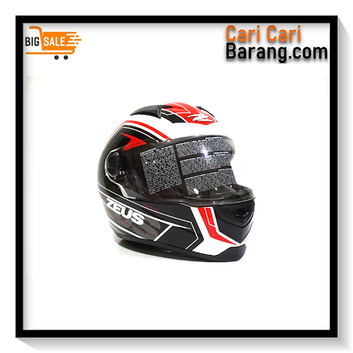 Helm Zeus Full Face ZS811 - WHI / AL5 RED