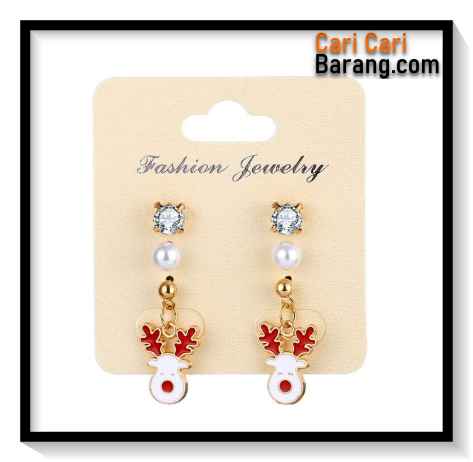 Anting Motif Natal Set 3 - Classic Christmas Earrings