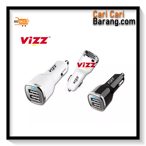 Car Charger Fast Charge Dual Port Vizz