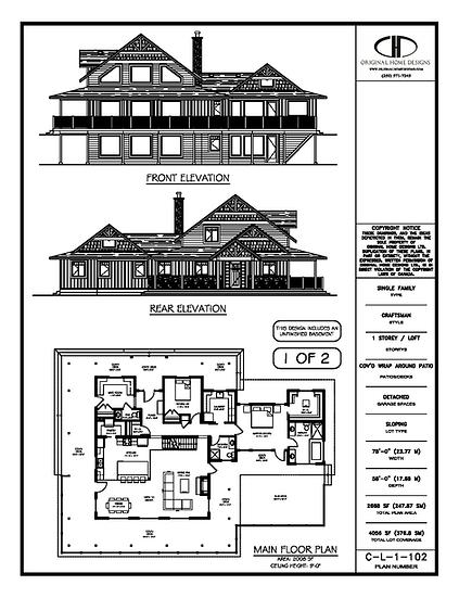 C-L-1-102 - Stock Plan Presentation Sheet - 1 of 2 - Traditional Craftsman