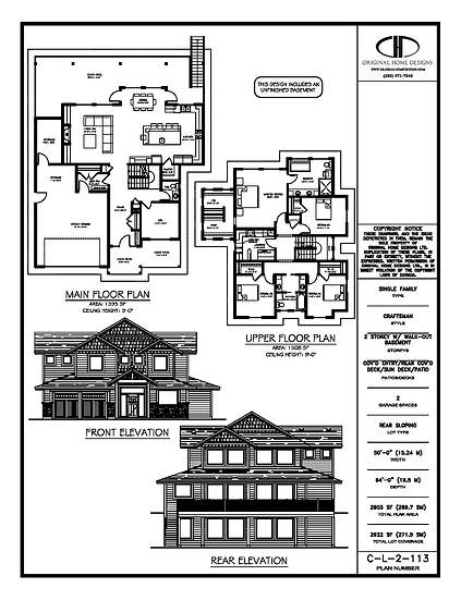 C-L-2-113 - Stock Plan Presentation Sheet - Traditional Craftsman
