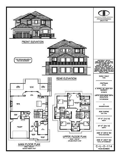 C-L-2-114 - Stock Plan Presentation Sheet - Traditional Craftsman