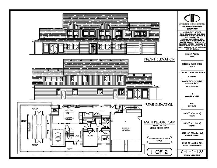 C-L-2-114 - Stock Plan Presentation Sheet - Modern Farmhouse Craftsman