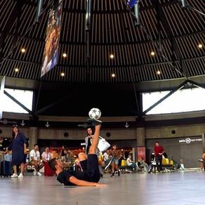 Animation Football Freestyle pour l'aéroport de Lyon