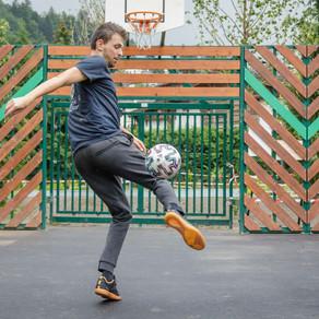 Démonstration Football Freestyle pour l'inauguration d'un city stade