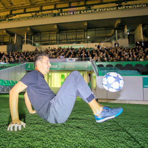 Show Football Freestyle sur la pelouse de Saint Etienne