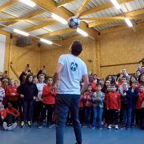Spectacle Freestyle Football Arbre de Noël de club
