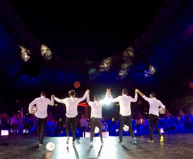 Show Football Freestyle Orange au Stade Vélodrome