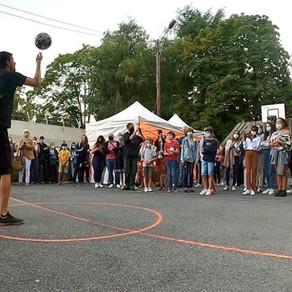 Show Freestyle Football pour l'inauguration d'un city stade