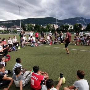 Animation Freestyle Football pour un évènement de quartier