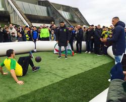 Animation football freestyle pour la fan zone du FC Nantes, au programme démonstrations, show, spect
