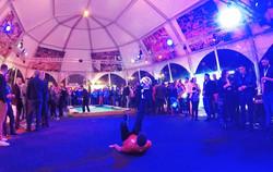 Corentin BARON show football freestyle pour SFR au LOSC Lille dans le cadre d'une soirée entreprise