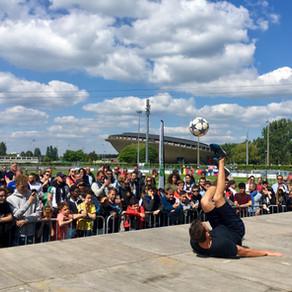 Démonstration Football Freestyle à Saint Nazaire