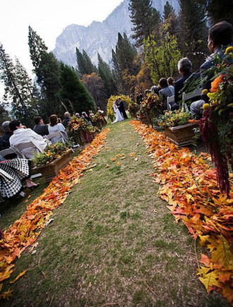 Fall Weddings, Some choose to get married in the mountains and have a reception at the Ouray Manor