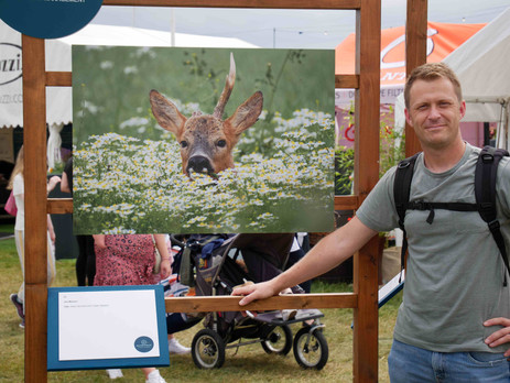 "Seeing my work at BBC Countryfile Live for QuilterCheviot's ""Capturing The Moment 2019"" competition"
