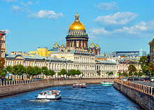Saint Isaac Cathedral  across Moyka rive
