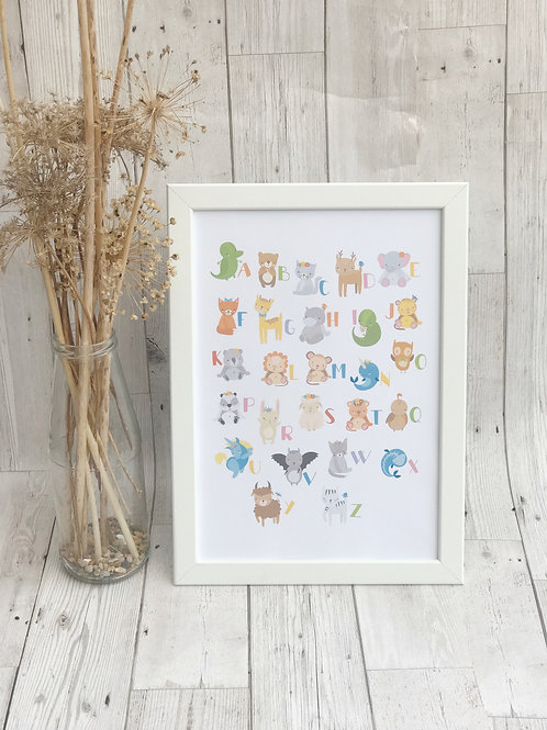 Alphabet Nursery Wall Art Print