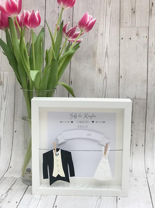 Wedding Day Keepsake Box Frame