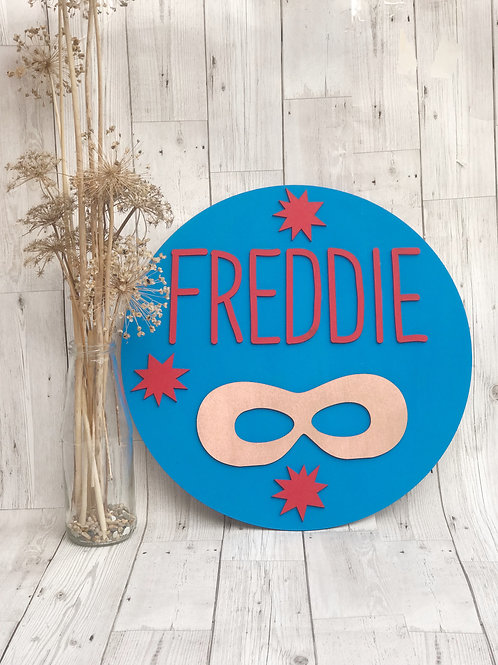 Large Superhero Name Plaque