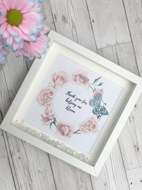 Personalised Floral Quote Teacher Frame