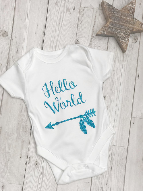 Hello World Baby Grow