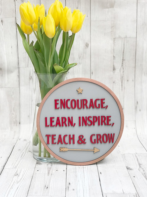 Motivational quote wall plaque