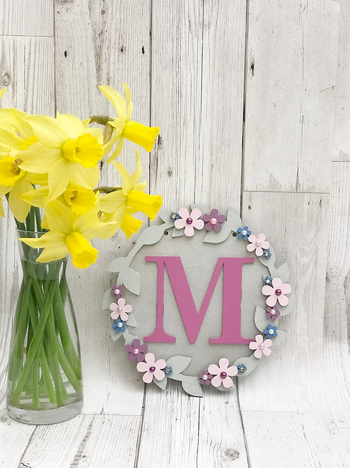 Handpainted Floral Plaque