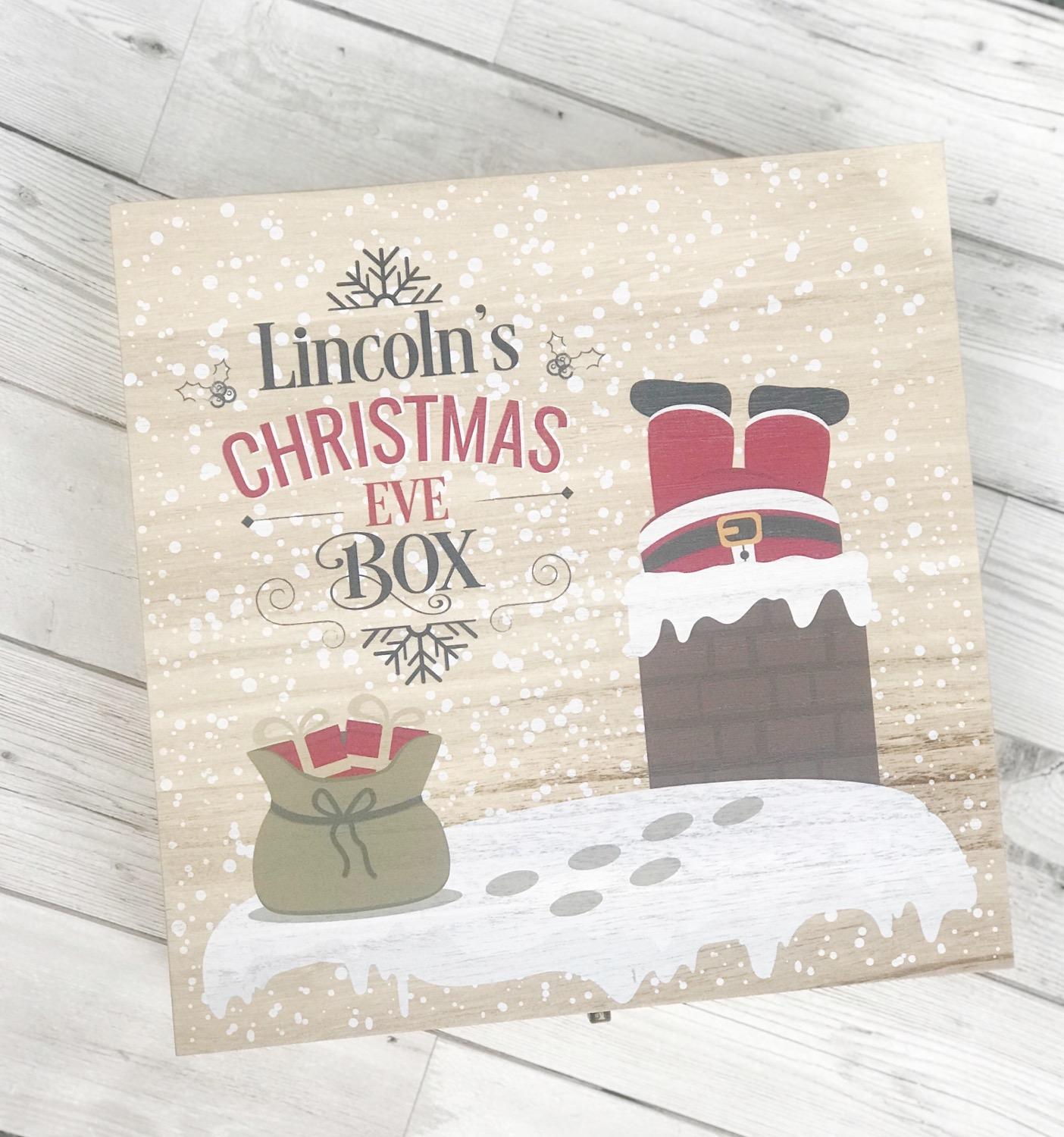 Thumbnail: Personalised Wooden Christmas Eve Box