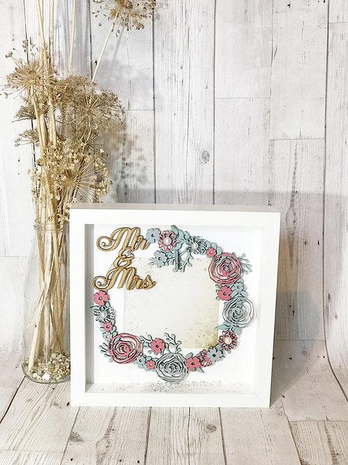 Mr & Mrs Wedding Box Frame. Wedding Gift.