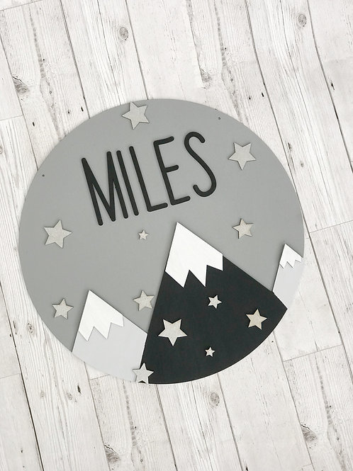 Personalised Mountain Wall Plaque