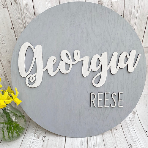 Personalised Name Plaque - Nursery Decor