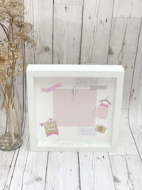 Baby Girl Scrapbook Frame