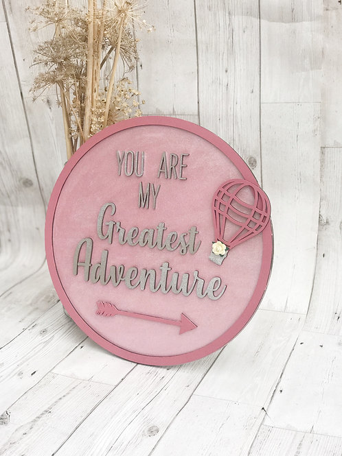 Adventure Quote Wall Plaque