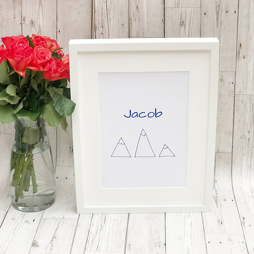 Personalised A4 Unframed Mountains Prinr