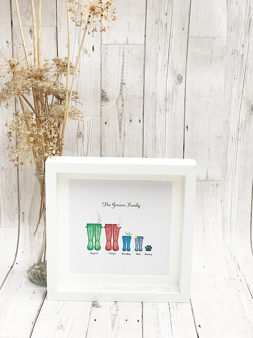 Personalised Wellie Boot Print